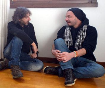 In Viaggio, il regista a sx e Pieropan a dx